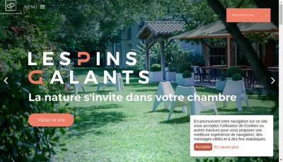 Site internet de Les Pins Galants