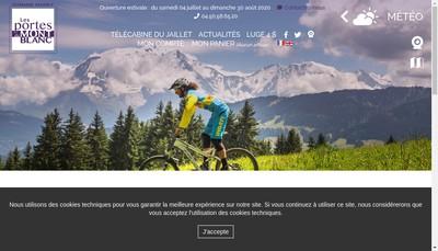 Site internet de Les Portes du Mont Blanc