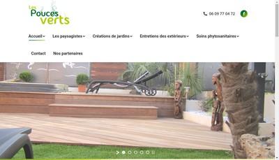 Site internet de Les Pouces Verts