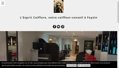 Site internet de L'Esprit Coiffure