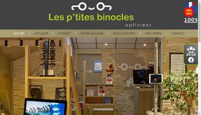 Site internet de Les P'Tites Binocles