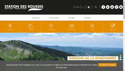 Site internet de Societe de Gestion de la Station des Rousses