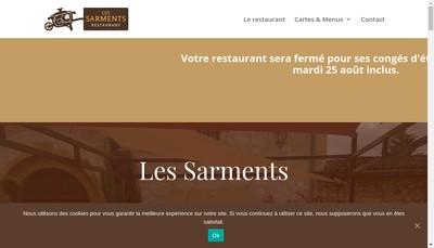 Site internet de Les Sarments