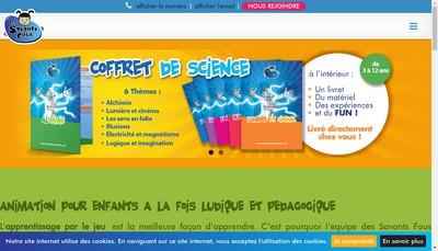 Site internet de Les Savants Fous Chantilly