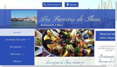 Site internet de Les Saveurs de Thau