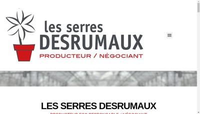 Site internet de Les Serres Desrumaux Com