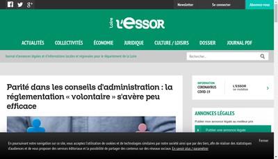 Site internet de L'Essor Edition Journal