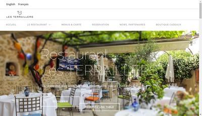 Site internet de Hostellerie des Terraillers
