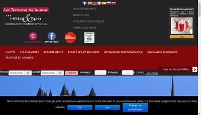 Site internet de Les Terrasses de Saumur