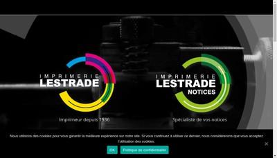 Site internet de Imprimerie Lestrade