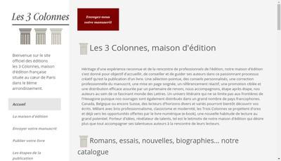 Site internet de Editions les 3 Colonnes