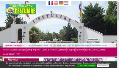 Site internet de Camping de l'Estuaire