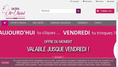 Site internet de Les Vins de Mlle Michel