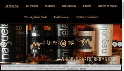 Site internet de Les Vins O Mur