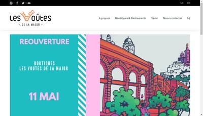 Site internet de Les Voutes de la Major