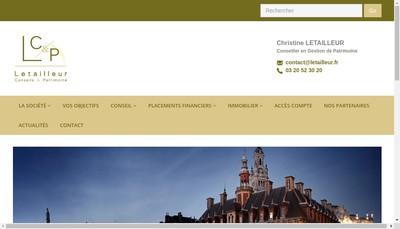 Site internet de Letailleur Conseil & Patrimoine