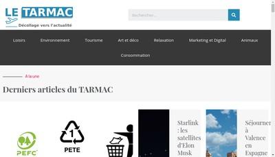 Site internet de Le Tarmac