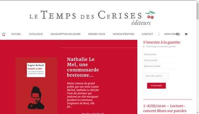 Site internet de Le Temps des Cerises Editeur