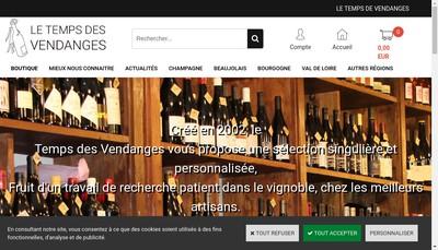 Site internet de Le Temps de Vendanges