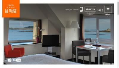 Site internet de SARL Hotel le Temps de Vivre