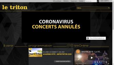 Site internet de Le Triton