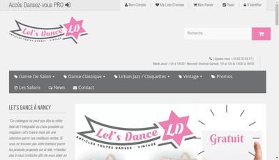 Site internet de Let'S Dance