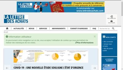 Site internet de La Lettre des Achats