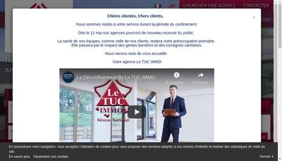 Site internet de Le Tuc Immo