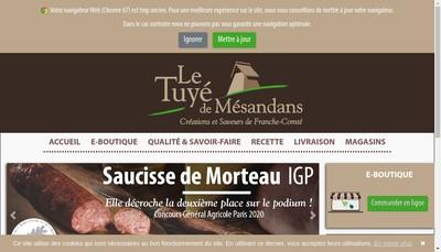Site internet de Le Tuye de Mesandans