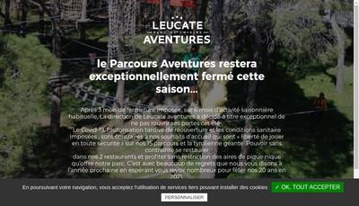 Site internet de Leucate Aventures