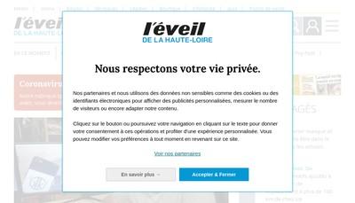 Site internet de SA l'Eveil de la Haute-Loire