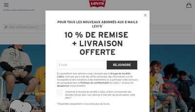 Site internet de Levi'S Store