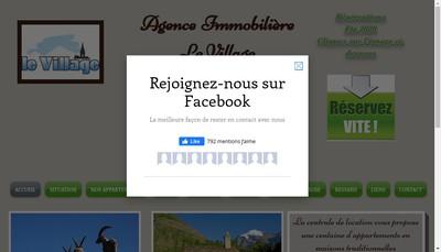 Site internet de Le Village