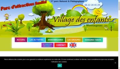 Site internet de Le Village des Enfants