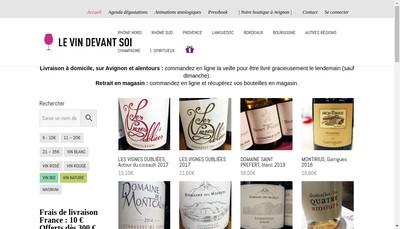 Site internet de Le Vin Devant Soi