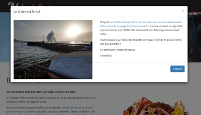 Site internet de SARL le Vivier