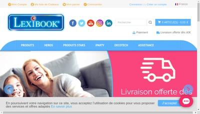 Site internet de Lexibook Linguistic Electronic System