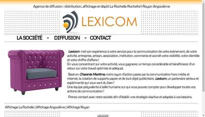 Site internet de Lexicom