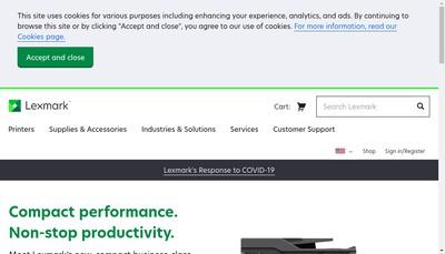 Site internet de Lexmark International SAS