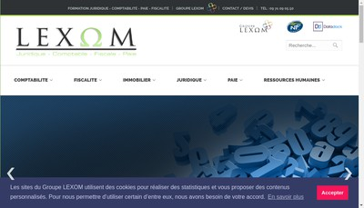 Site internet de Lexom