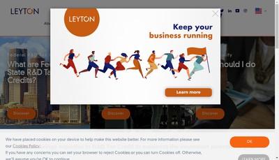 Site internet de Leyton France
