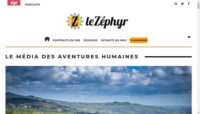 Site internet de Z le Zephyr