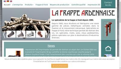 Site internet de La Frappe Ardennaise