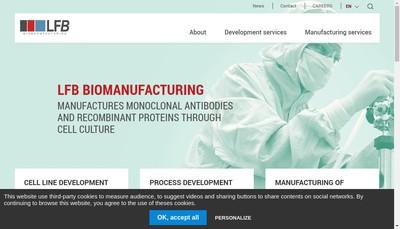 Site internet de Lfb Biomanufacturing