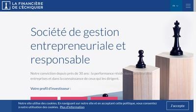 Site internet de Financiere de l'Echiquier
