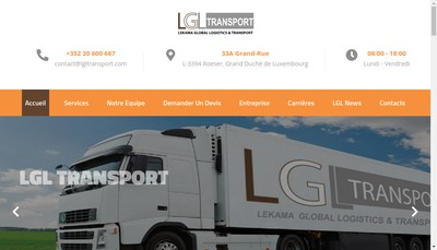 Site internet de Lgl Transports