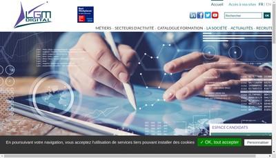 Site internet de Lgm Digital