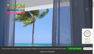 Site internet de Lgm Immo