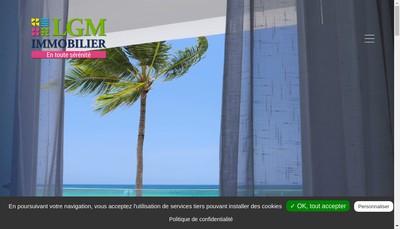 Site internet de Lgm Immobilier