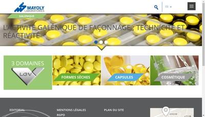 Site internet de Laboratoires Galeniques Vernin